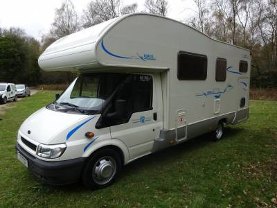 2004 Rimor Europeo 6 berth 4 seat belt large garage motorhome for sale in East Sussex