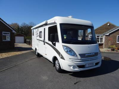 Hymer Exsis i-588, 2016, 4 berth, 4 belts, L-shaped lounge motorhome for sale