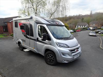 Burstner T590 3 Berth 4 Travel Seats Rear Fixed Bed and Garage Motorhome Camper Van For Sale