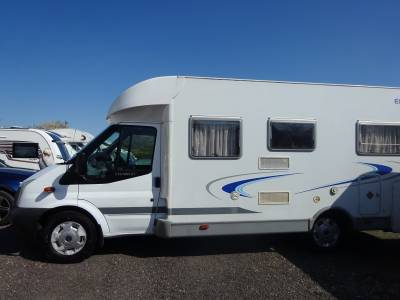 2008 Dethleff Eurostyle T5 Capron 4 berth fixed bed  4 seat belt with Garage motorhome for sale in Kent