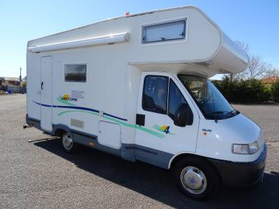 Chausson Welcome 4 end bunks end washroom 6 berth 4 belt left hand drive family motorhome for sale