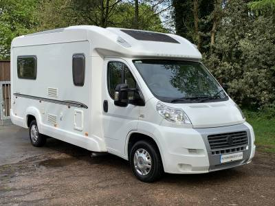 Bessacarr E520 2 berth rear U-shaped lounge couchbuilt motorhome for sale