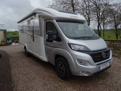 Hymer T CL 698, 2019, 1300 miles, 3 Berth, Rear Island Bedroom, L Shaped Lounge Motorhome.