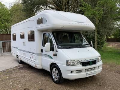 Bessacarr E765 6 berth rear fixed bed coachbuilt motorhome for sale
