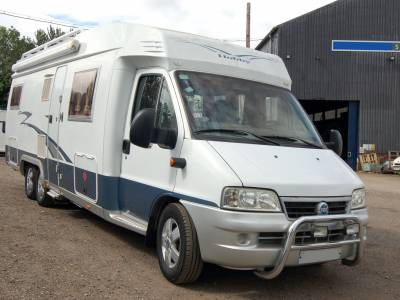 2005 Hobby 750 FML luxury fixed bed motorhome