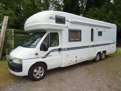 Auto-Trail Chieftain 6 berth 2 belt rear fixed bed air conditioned coach built motorhome for sale