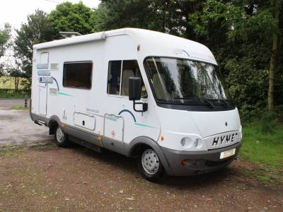 Hymer B584 A-Class 3 berth drop down bed motorhome for sale