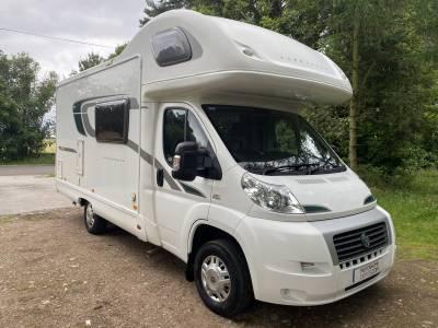 Bessacarr E434 5 berth end kitchen overcab bed coachbuilt motorhome for sale