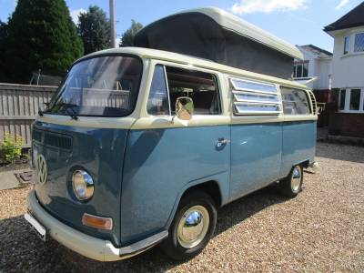 Volkswagen VW T2 Early Bay Historic Pop Top Camper Van For Sale