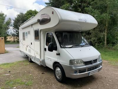 Elnagh Super D112G 5 berth rear garage rear fixed bed coachbuilt motorhome for sale