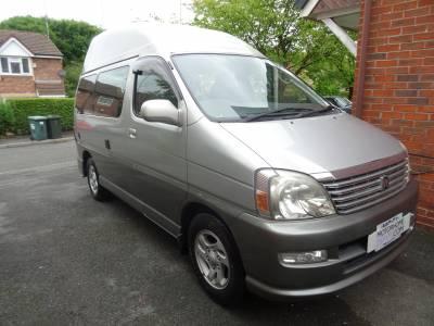 Toyota Regius Denby Hi-Top 2.7 petrol automatic 2 berth 4 seatbelts campervan for sale