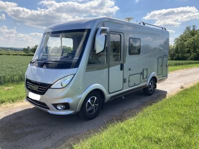 2018 Hymer Exis 504 Fiat Ducato 3 berth 4 seat belt rear bed A class 3500KG