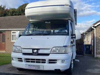 Autosleeper Ravenna 4 berh end lounge over cab bed for sale