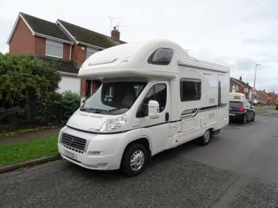 Bessacarr E435 5 Berth 4 Travel Seats Rear Washroom Rear Kitchen Motorhome Camper Van For Sale