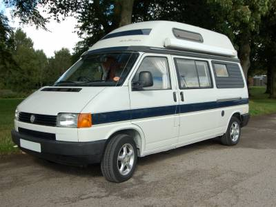 AutoSleeper Topaz 2 Berth VW T4 hightop camper with full washroom