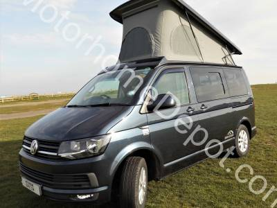 Volkswagen T6 Transporter - 4 Berth, 4 Belts, Cab air-con, Solar panel, Bike rack